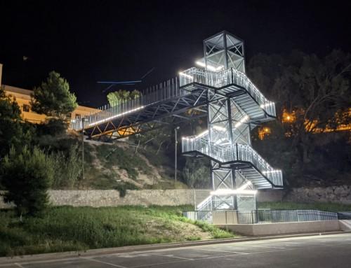 Estructura ascensor y pasarela acceso Guardamar