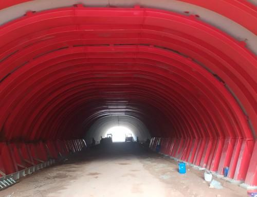 Refuerzo de túnel en Tibi